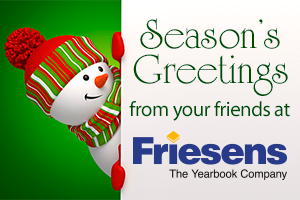 season's greetings card from friesens