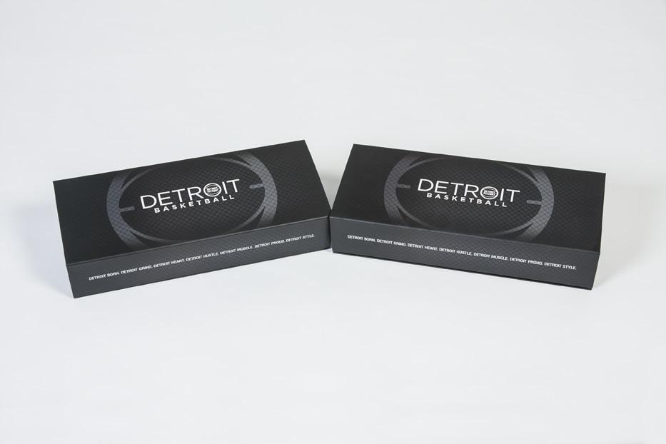 Detroit Pistons season ticket box - two boxes