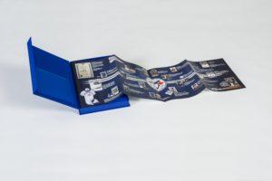 Toronto Blue Jays Season Ticket Box - open, with insert folded open