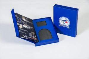 Toronto Blue Jays Season Ticket Box - open, insert closed
