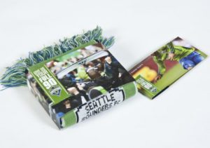 seattle sounders ticket wallet with scarf sleeve