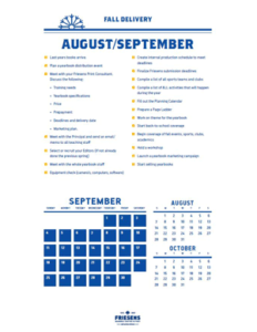 Plan It - Fall Delivery Timeline